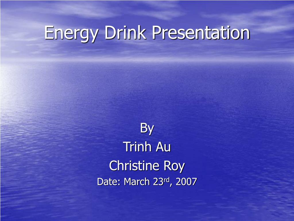 energy drink presentation l.