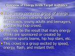 overview of energy drink target audience