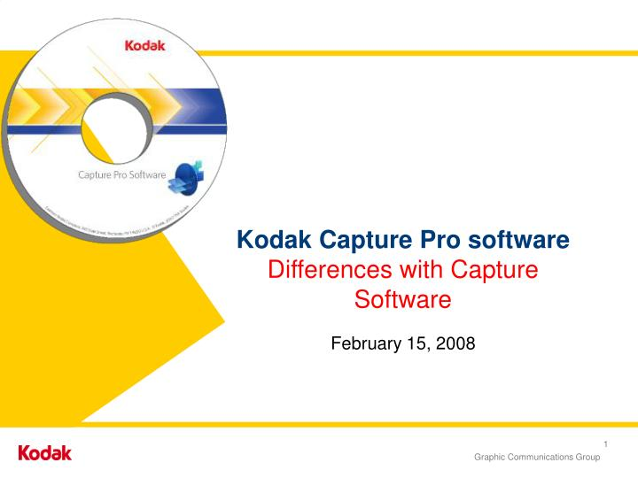 kodak capture pro software differences with capture software n.