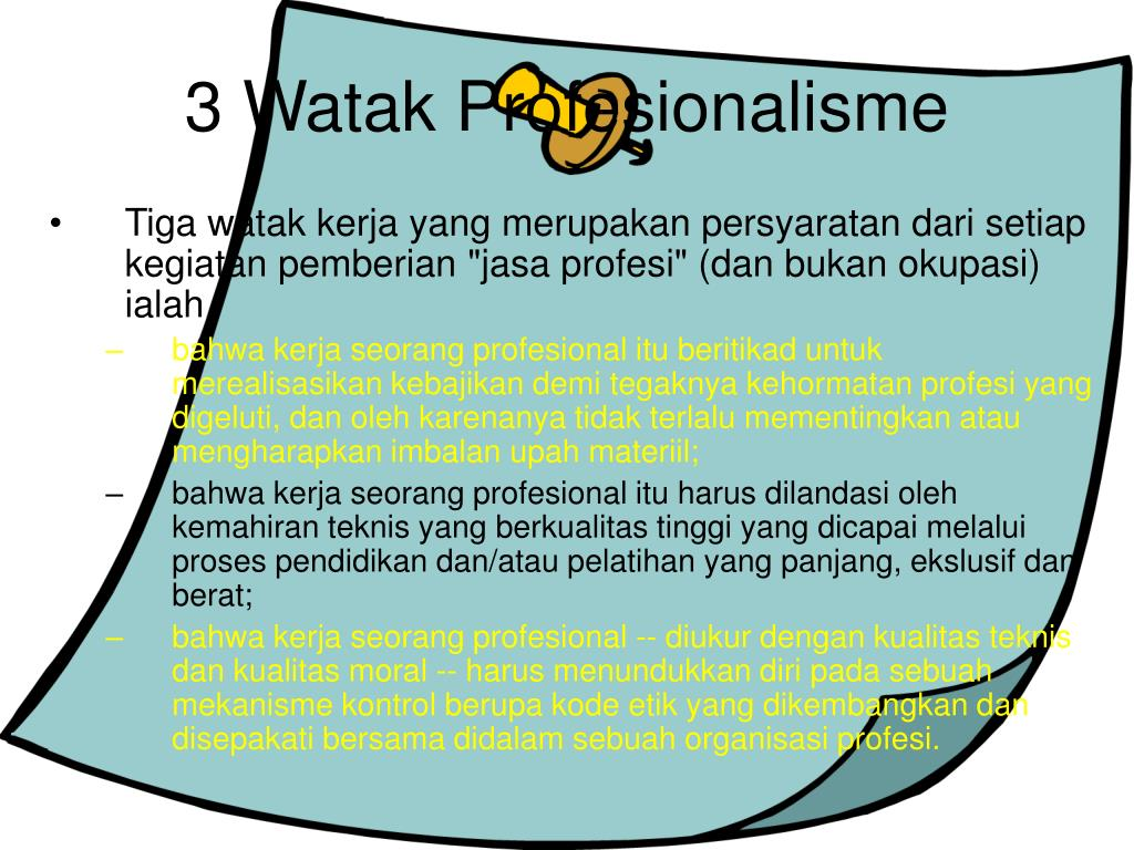 3 Watak Profesionalisme