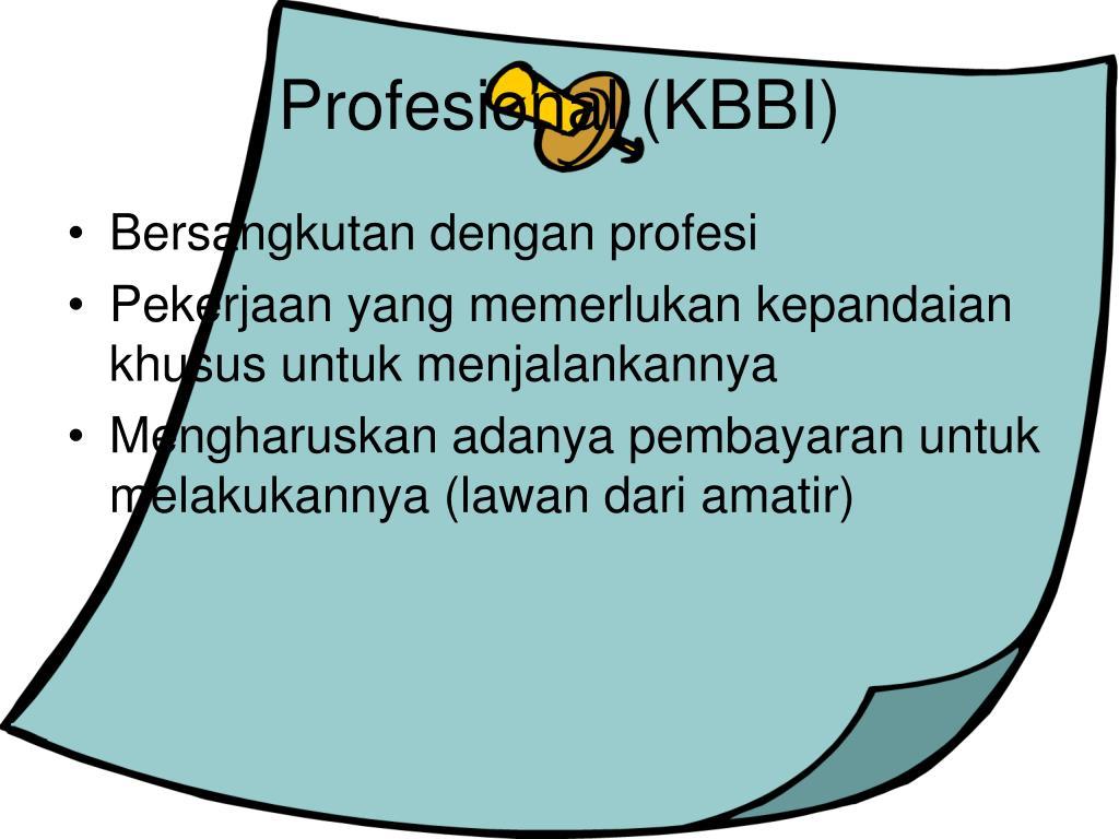 Profesional (KBBI)