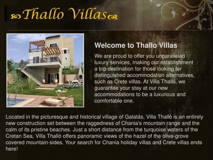Welcome to Thallo Villas