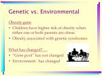 genetic vs environmental
