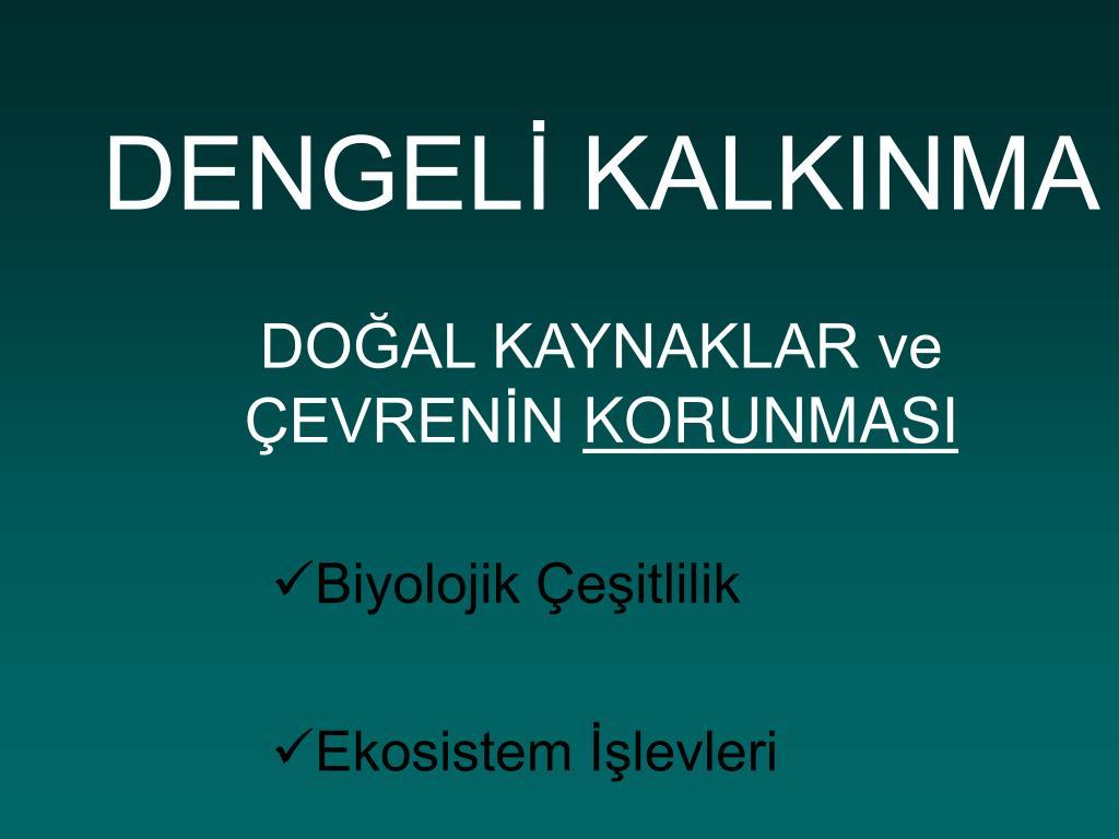 DENGELİ KALKINMA