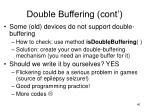 double buffering cont