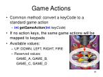 game actions