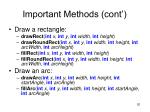 important methods cont