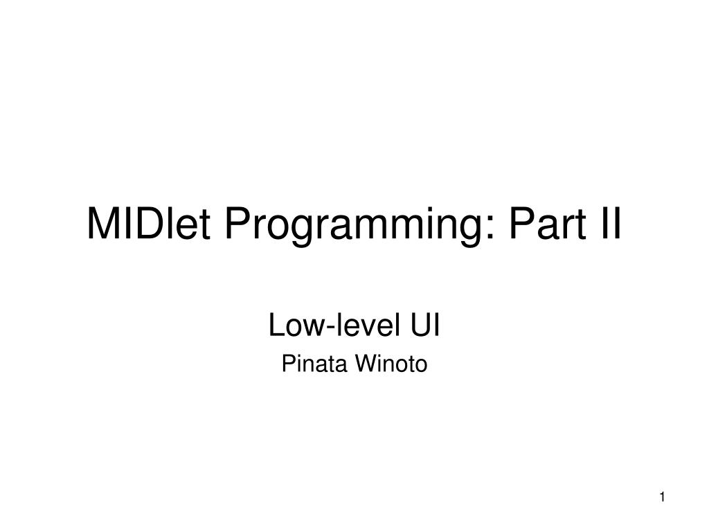 midlet programming part ii l.