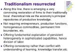 traditionalism resurrected
