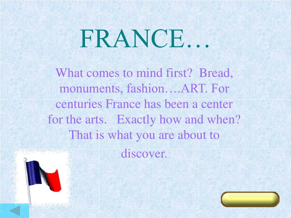 FRANCE…
