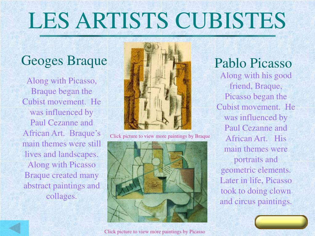 LES ARTISTS CUBISTES