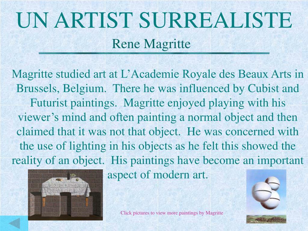 UN ARTIST SURREALISTE