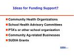 ideas for funding support