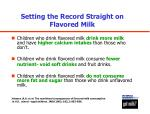 setting the record straight on flavored milk