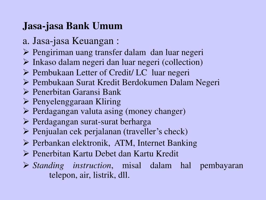 Jasa-jasa Bank Umum