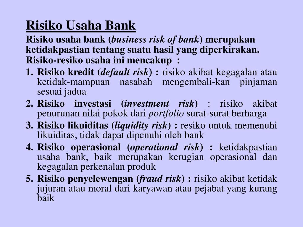 Risiko Usaha Bank