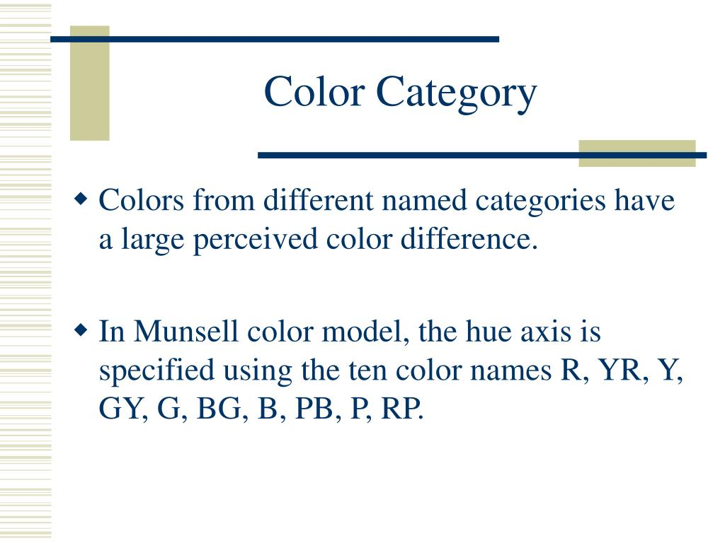 Color Category