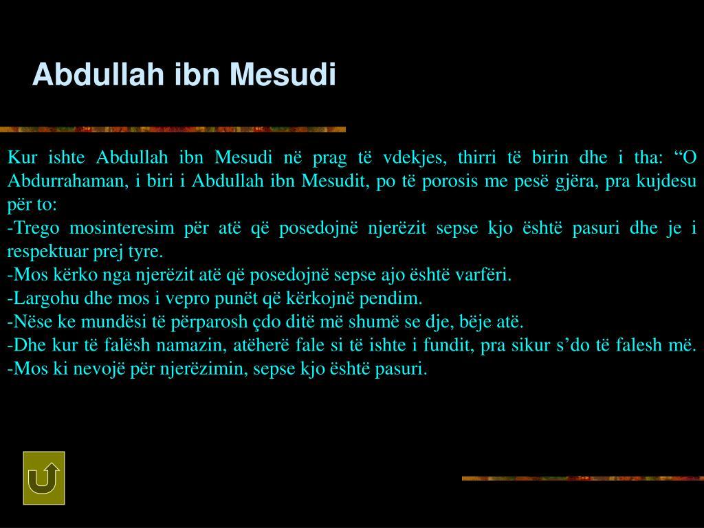 Abdullah ibn Mesudi