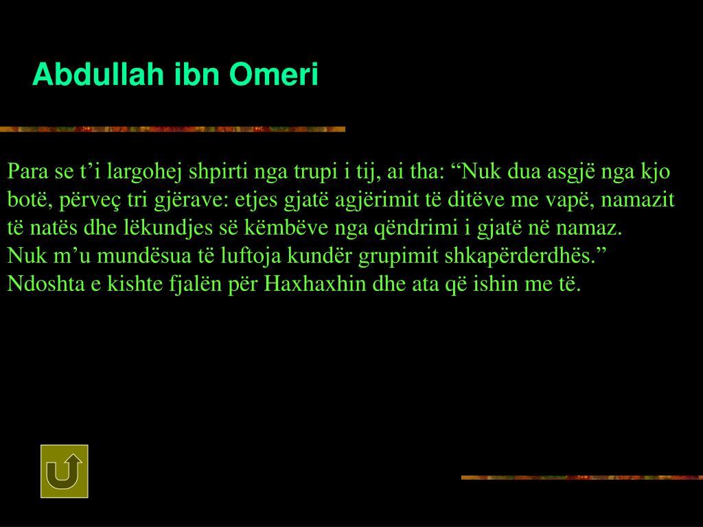 Abdullah ibn Omeri