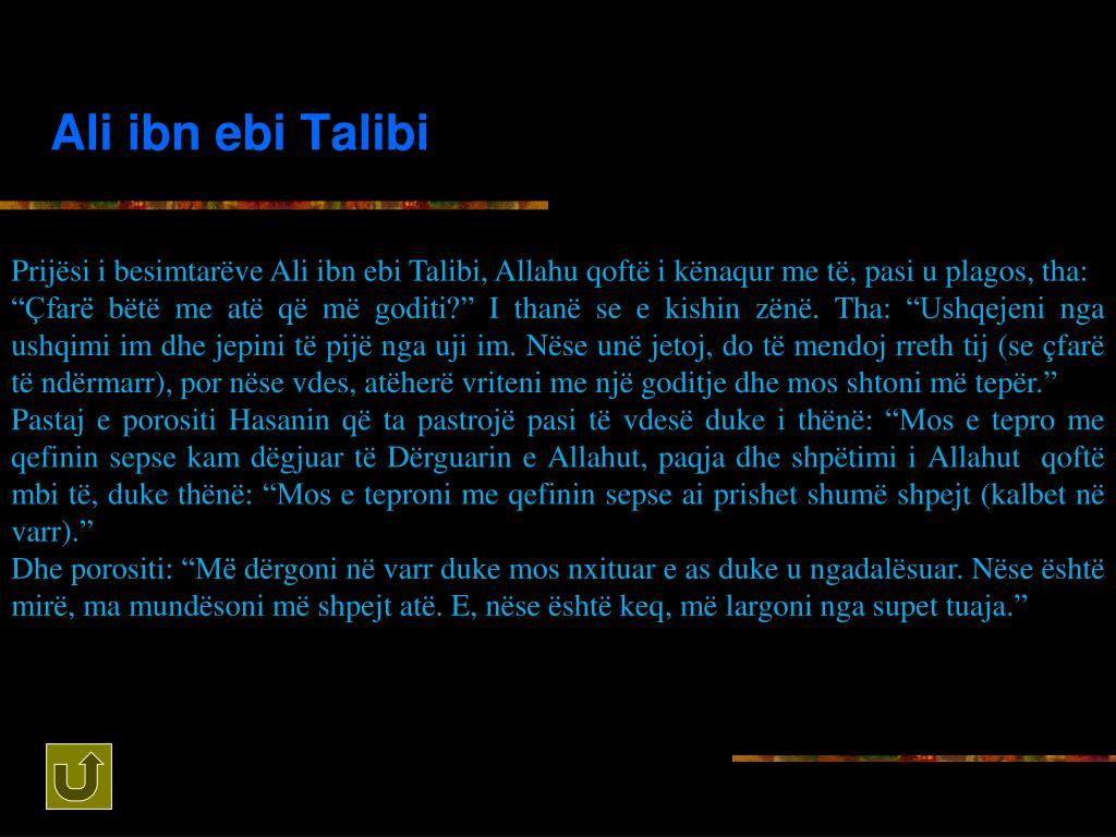 Ali ibn ebi Talibi