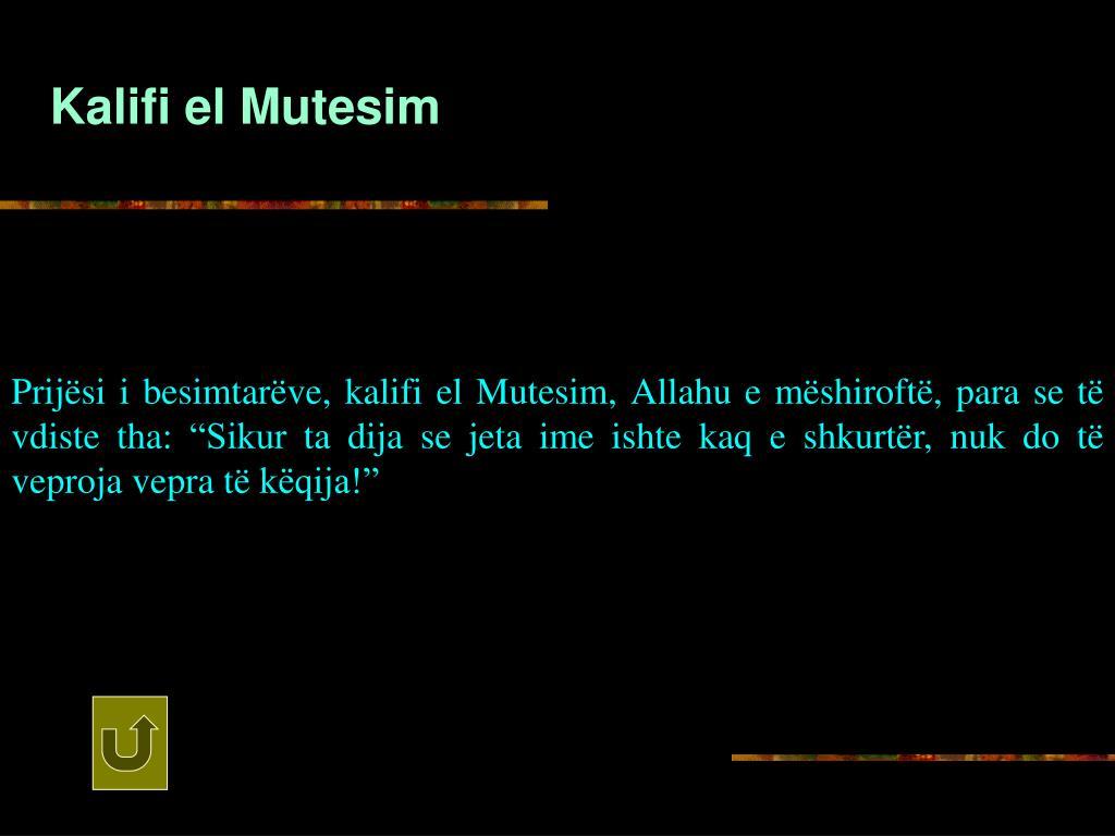 Kalifi el Mutesim