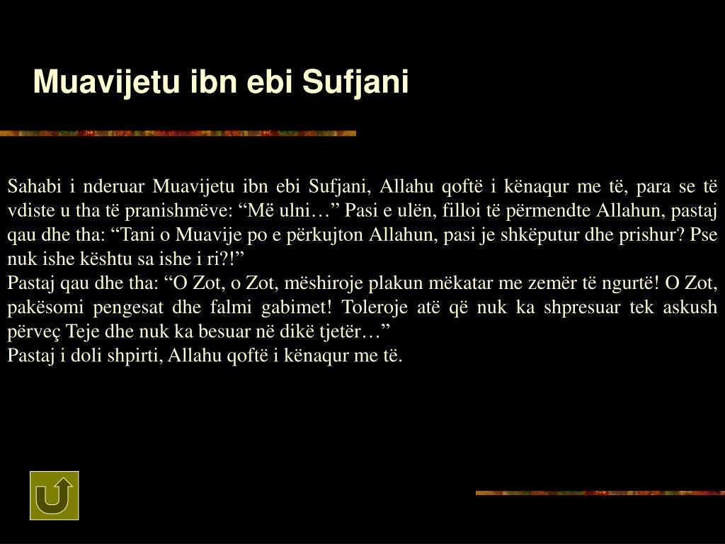 Muavijetu ibn ebi Sufjani