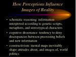 how perceptions influence images of reality