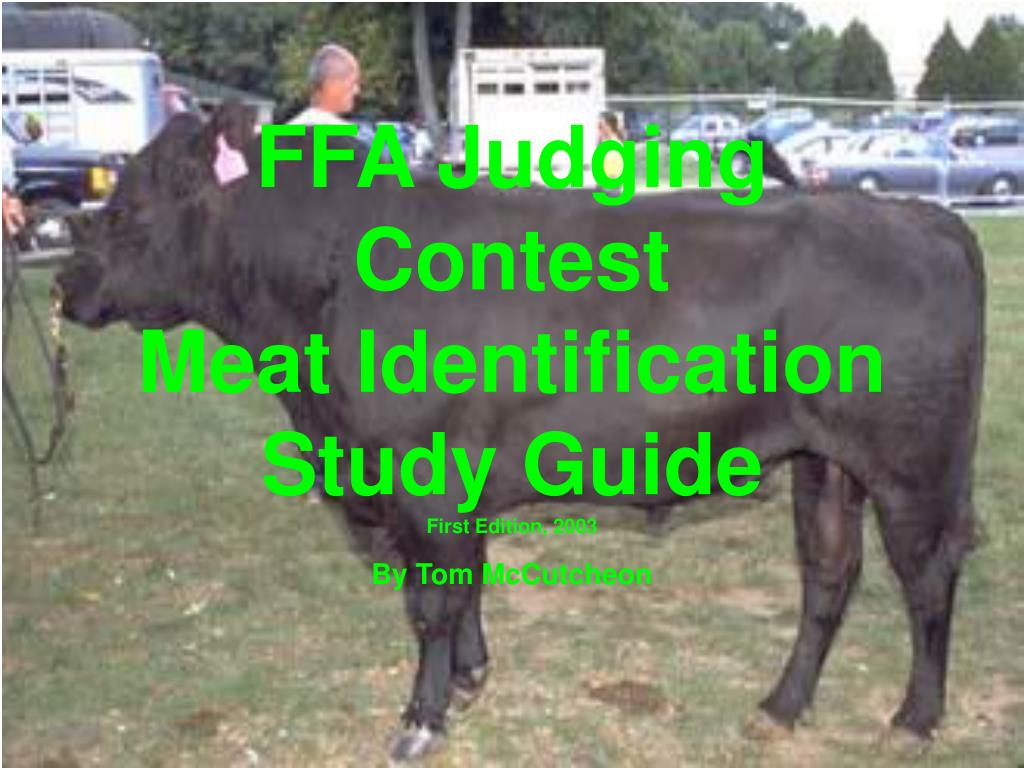 ffa judging contest meat identification study guide first edition 2003 l.