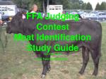 ffa judging contest meat identification study guide first edition 2003