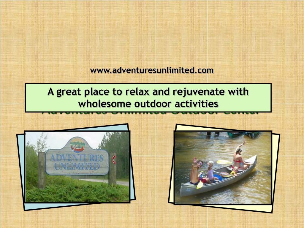 adventures unlimited outdoor center l.