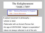 the enlightenment 1688 1789