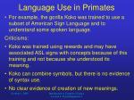 language use in primates10