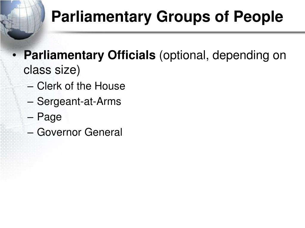 Parliamentary Groups of People