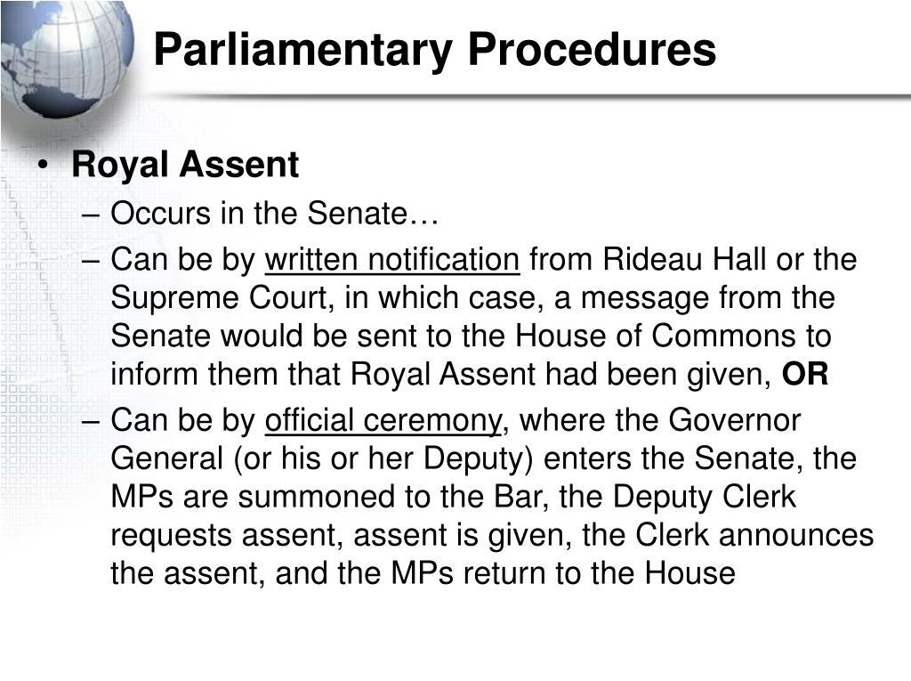 Parliamentary Procedures
