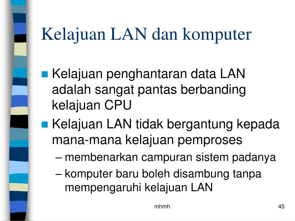 Kelajuan LAN dan komputer