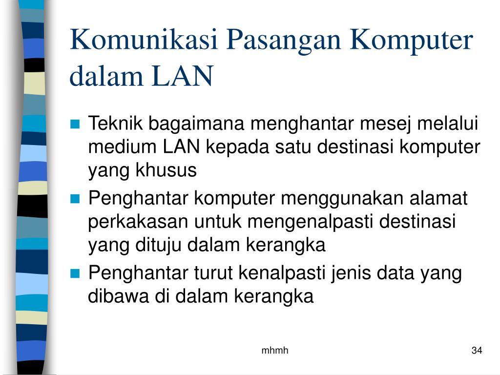 Komunikasi Pasangan Komputer dalam LAN