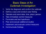 basic steps of an outbreak investigation