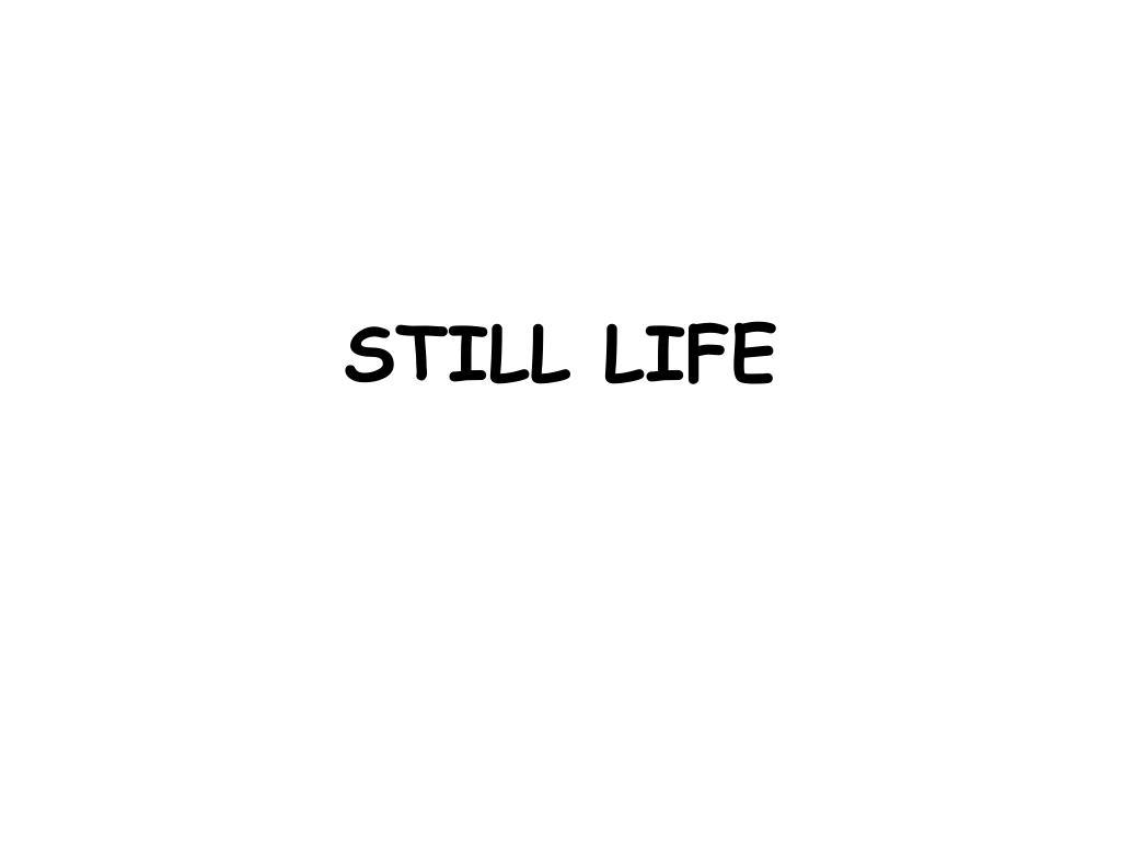 still life l.