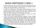 duda penteado 1968