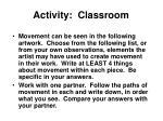 activity classroom