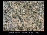 jackson pollock lavendar mist no 1 1950