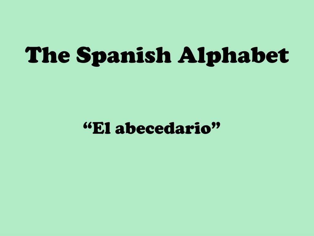 the spanish alphabet l.