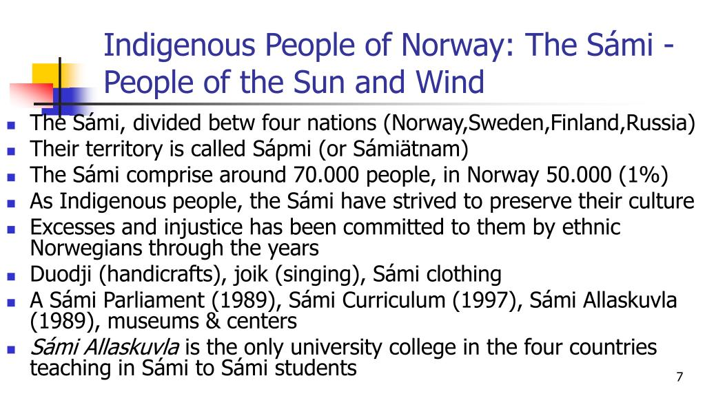 Indigenous People of Norway: The Sámi - People of the Sun and Wind