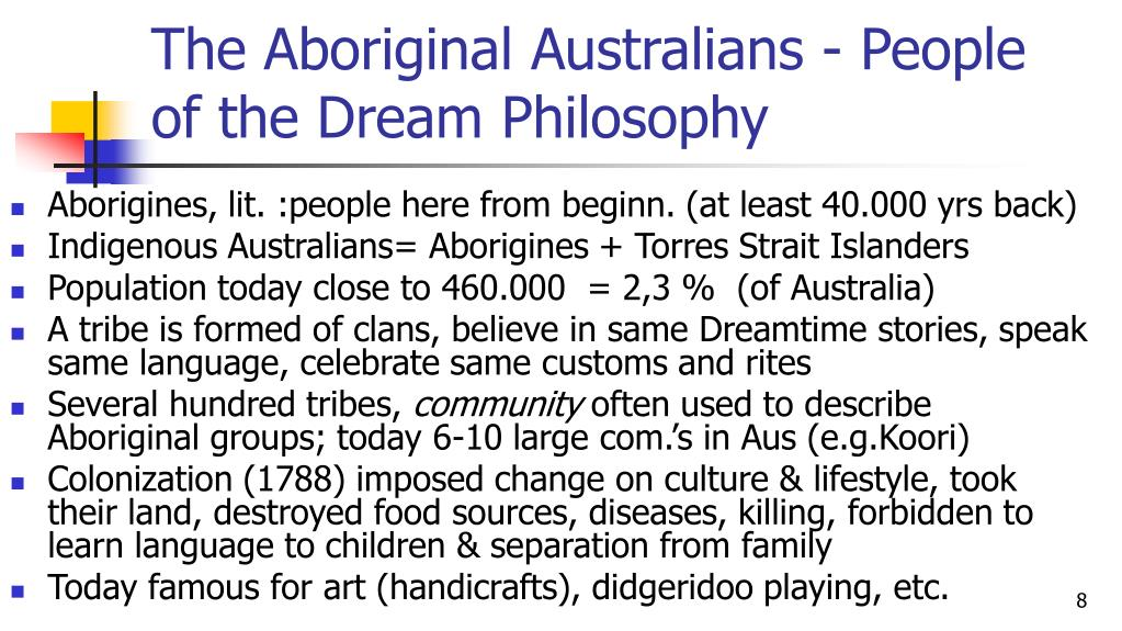 The Aboriginal Australians - People of the Dream Philosophy
