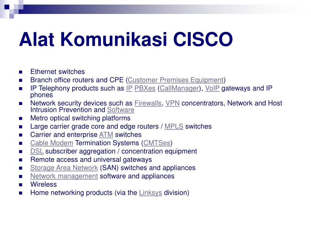 Alat Komunikasi CISCO