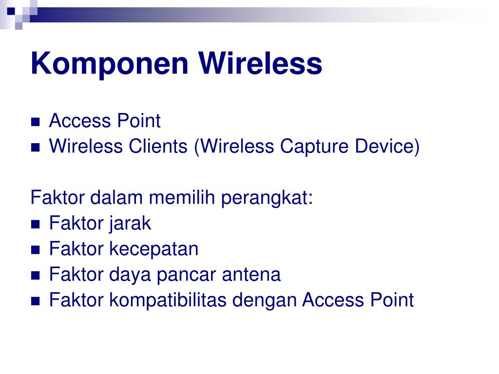 Komponen Wireless