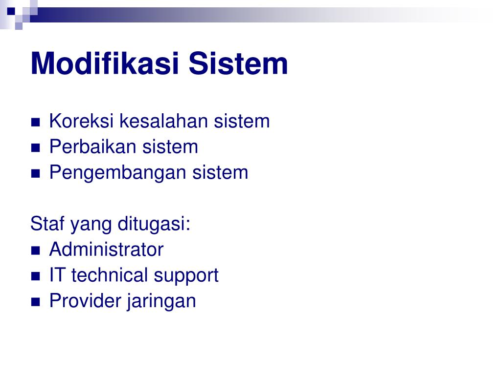 Modifikasi Sistem