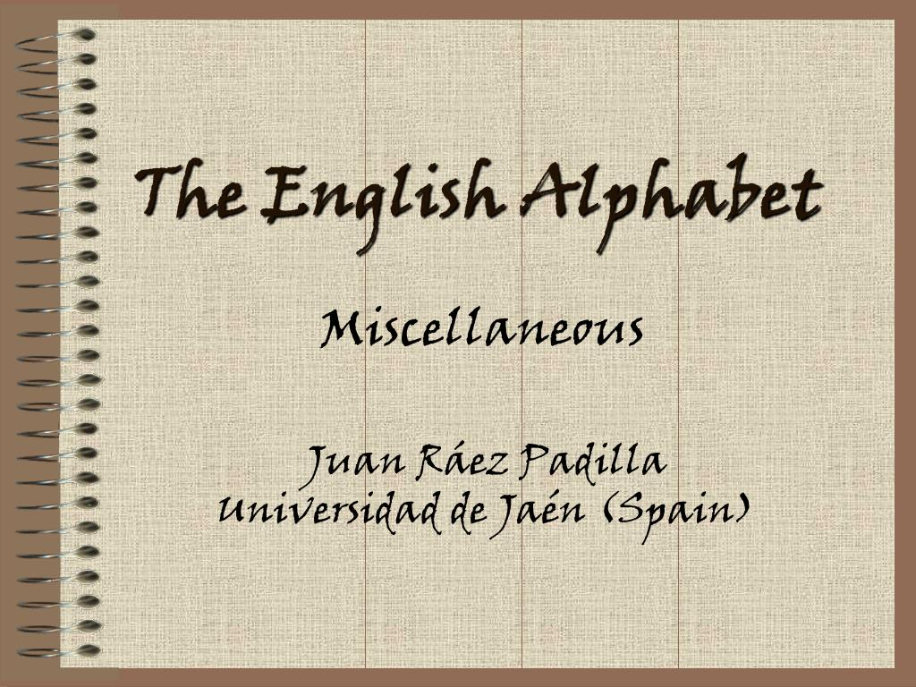 the english alphabet l.