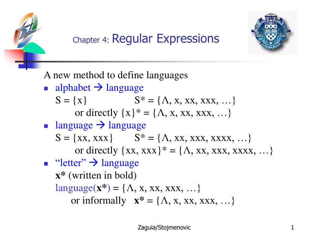 chapter 4 regular expressions l.