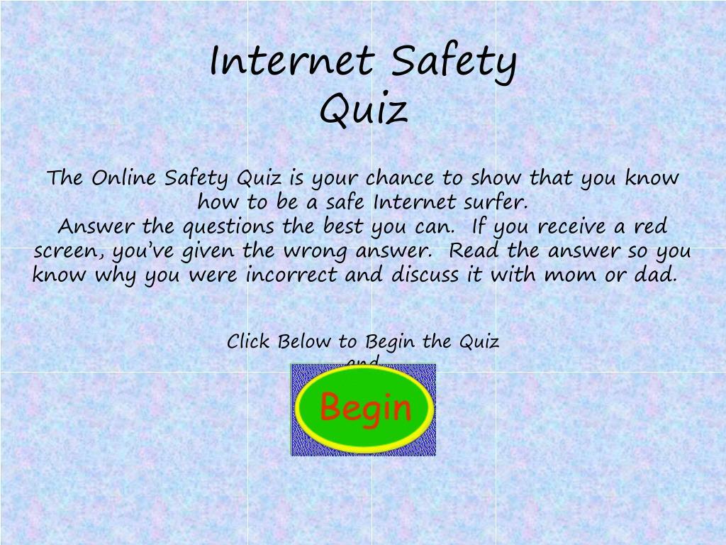 Ppt Internet Safety Quiz Powerpoint Presentation Free Download Id 414795